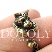 Miniature Leopard Ring Sizes 4 to 9 available | dotoly - Jewelry on ArtFire