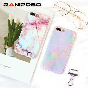 Soft IMD Granite Marble Texture Phone Case For iPhone 6 6S 7 8 Plus Back Cover Mobile Phone Bags & Case for iPhone X