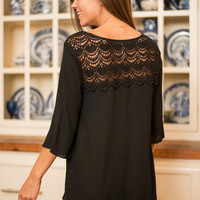 Anyplace Is Paradise Top, Black