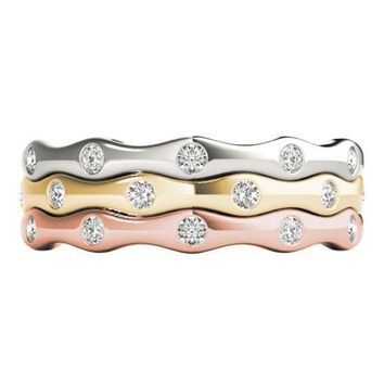 Stackables Full Eternity Tri-Tone Gold 3-Band Set