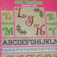 Leisure Arts Charted Alphabets and Borders Vol 2 Cross Stitch Pattern Leaflet 57