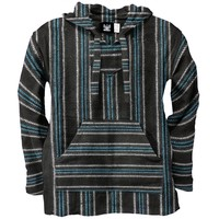 Royal & Black Stripe Woven Baja Hoodie