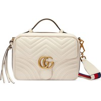 Gucci Small GG Marmont 2.0 Matelassé Leather Camera Bag with Webbed Strap | Nordstrom