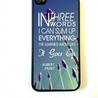 BestElec(TM) for iPhone 5 Case Protective for iPhone 5 Case Robert Frost Quote It Goes On