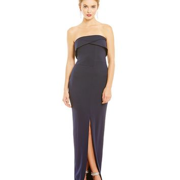JS Collections Fold Over Column Gown | Dillards
