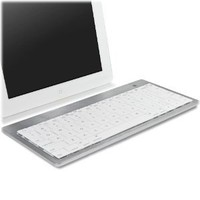 BoxWave Wireless Bluetooth Keyboard - Type Runner Keyboard for Apple iPhone 4 - Portable Bluetooth Keyboard for the iPhone with Integrated Apple Commands (Silver White)