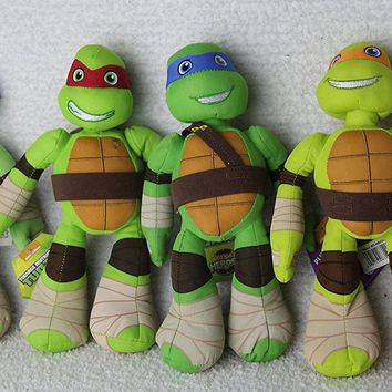 "Nickelodeon Ninja Turtle Set of 4 Plush Toys 10"" --By Half Shell Heroes"
