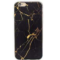 Cool Black Marble Grain iPhone 5s 6 6s Plus creative case Gift-129