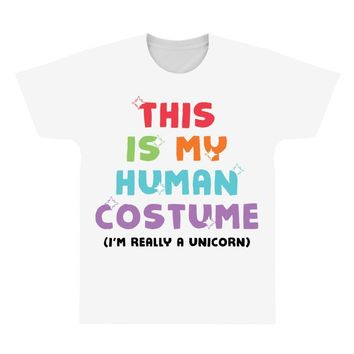 This Is My Human Costume I'm Really A Unicorn All Over Men's T-shirt