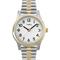 Timex Women's T2N068 Elevated Classics Dress Two-Tone Watch with Expansion Band
