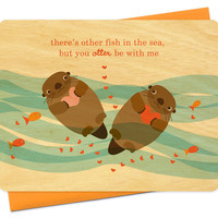 otter love by Night Owl Paper Goods