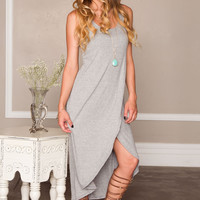 Here And There Dress - Gray