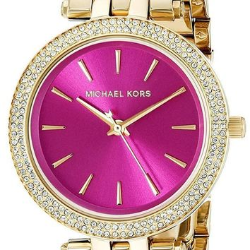 PEAP6 Michael Kors Women's Goldtone Mini Darci Watch