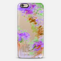 WHISPERED SONG 3 - Elegant Abstract Fine Art Painting Fall Autumn Floral Flowers Green Lavender Purple Rust Brown Metallic Shimmer Chic Transparent iPhone 6 case by Ebi Emporium | Casetify