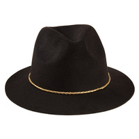 Metallic Braid Felt Fedora
