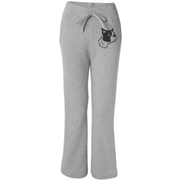 Boston Terrier Embroidered Sweatpants