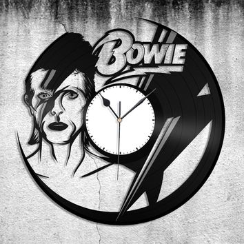 David Bowie Clock Ziggy Stardust clock David Bowie Art Gift for David Bowie lover Record Art Retro Celebrity Art Retro Bowie home decor