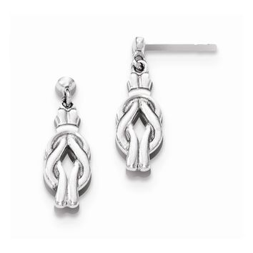 Sterling Silver Polished Celtic Post Earrings