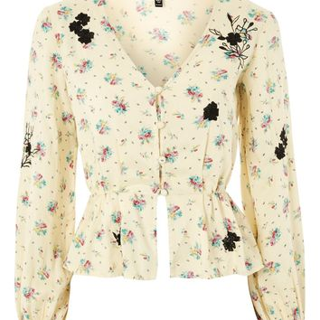 Embroidered Floral Blouse - New In Fashion - New In