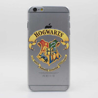 Harry Potter Hogwarts Houses Hard Transparent Case Cover for iPhone 7 7 Plus 6 6S Plus 5 5S SE 5C 4 4S