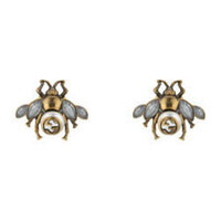 Gucci Bee earrings with crystals