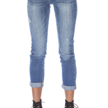 Skinny Mid Rise Crop Jeans