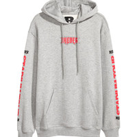 Printed Hooded Shirt - from H&M