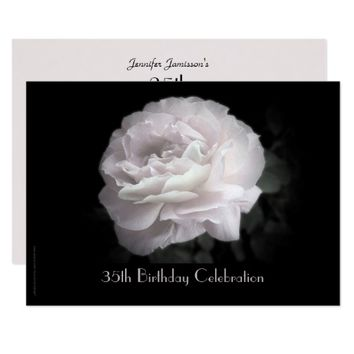 35th Birthday Party Celebration Pale Pink Rose Card