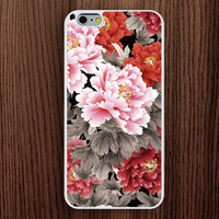 iphone 6 case,Painting Peony Image iphone 6 plus case,most beautiful iphone 5s case,chinese flower iphone 5c case,peony iphone 5 case,elegant iphone 4s case,classical flower iphone 4 case,women's gift,girl's present
