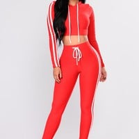 Tennis Courts II Set - Red/White