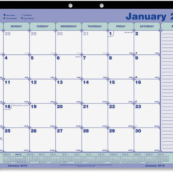"""rediform office products desk/wall calendar pad, monthly, jan-dec, 21-1/4""""x16"""" Case of 4"""