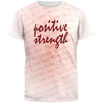 Inspirational Words Positive Strength All Over Mens T Shirt