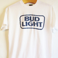 Vintage 1980's Retro Bud Light Beer T Shirt