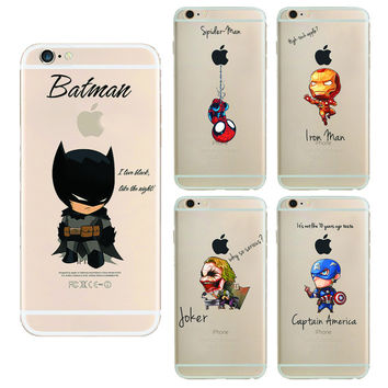 batman The Avengers Phone Case Cover For Apple i Phone iPhone 5 5S SE 6 6S 6 plus Case iron Maniron Man Captain America Raytheon