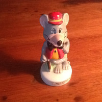 Vintage Chuck E Cheese Ceramic Figurine