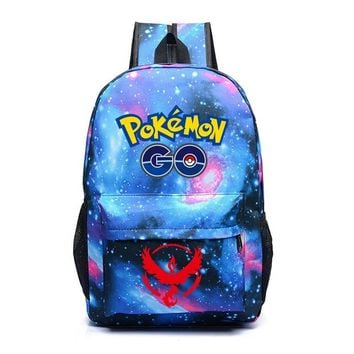 Hot Game  Go Backpack  Gengar Backpacks School Bags Shoulders Bag For Teenager Girls Mochila FemininaKawaii Pokemon go  AT_89_9