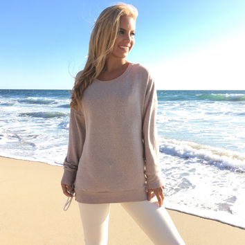 On My Side Sweater Tunic In Oatmeal