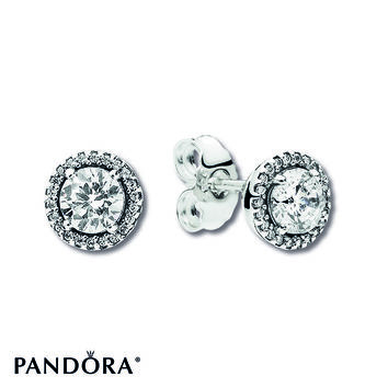 PANDORA Earrings Classic Elegance Sterling Silver