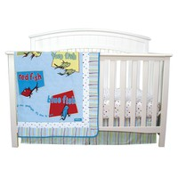 Dr. Seuss ''One Fish, Two Fish'' 3-pc. Crib Set by Trend Lab (Blue)