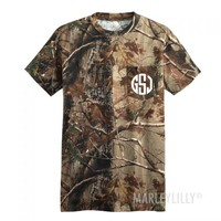 Monogrammed Short Sleeve Camo T-Shirt | Marley Lilly