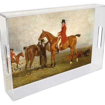 The Hunt Lucite Tray