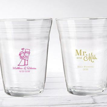 Personalized Party Cup Glass - Wedding