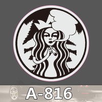 A-816 Starbuck Waterproof Fashion Cool DIY Stickers For Laptop Luggage Fridge Skateboard Car Graffiti Cartoon Sticker