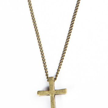 Gold necklace with small gold cross