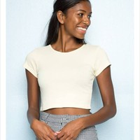 PacSun Tops | NWT Brandy Yellow Crop Top | Color: Yellow | Size: OS