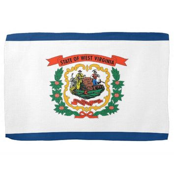 Kitchen towel with Flag of West Virginia, U.S.A.