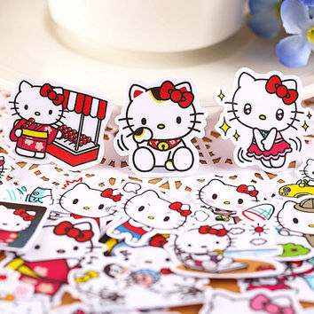40pcs, kitty Sticker, cat, sticker flakes,  Planner Sticker, kawaii stationary, scrapbook kit, journal stickers, cute sticker, Sticker set