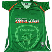 Ireland Country Soccer Jersey by Drako Ladies Size M & L
