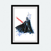 Star Wars Darth Vader watercolor print Star Wars poster Darth Vader wall decor Home decoration Kids room wall art Wall hanging decor W654