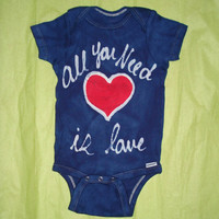 All You Need is Love baby batik Onesuit The Beatles inspired